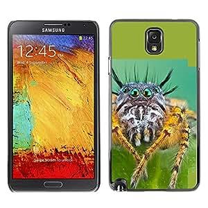 Caucho caso de Shell duro de la cubierta de accesorios de protección BY RAYDREAMMM - Samsung Galaxy Note 3 N9000 N9002 N9005 - Cool Spyder Eyes