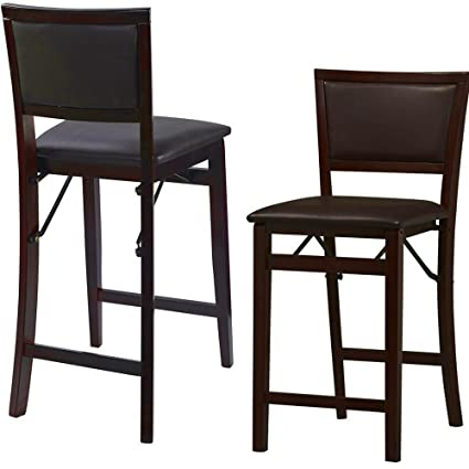 amazon com espresso counter height stool with back and footrest