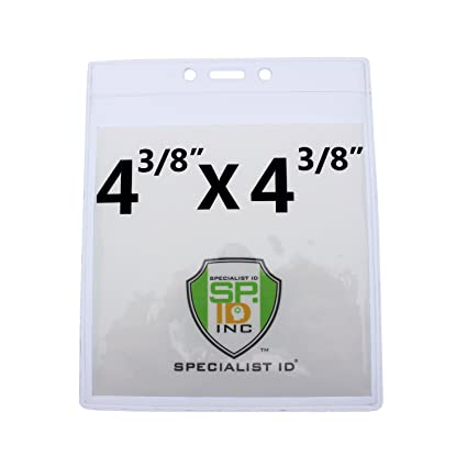 4X6 Large Badge /& Ticket Holders 100 Pack Bulk 4 X 6 Inch for Special Events