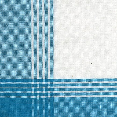 Dunroven House 734-TUR Stripe Mcleod Towel, 20-Inch x 28-Inch, White and Turquoise