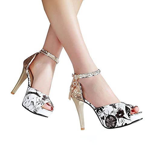 b330ca96bac Amazon.com | Caddy Wolfclaw Women Cute Colorful Printed Peep Toe ...