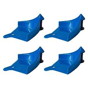 Detail Guardz Pressure Washer, Jet Wash Car Wash Detailing Tool Car Wash Inserts 4 Pack Blue