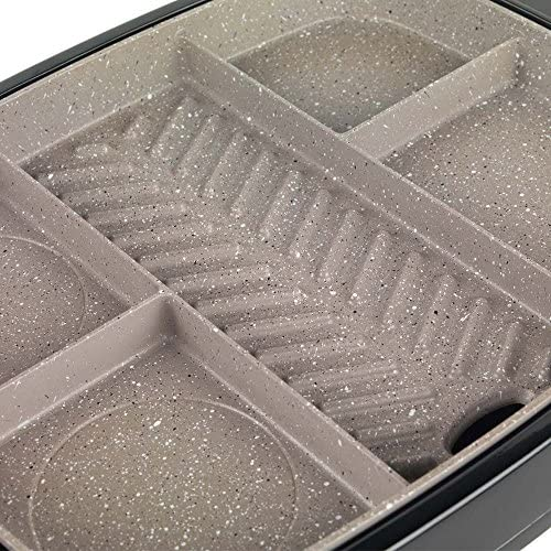 WW EK2764WW Multi-Portion 5 in 1 Grill with Marble Effect Non-Stick Coating, 1500 W, Plastic