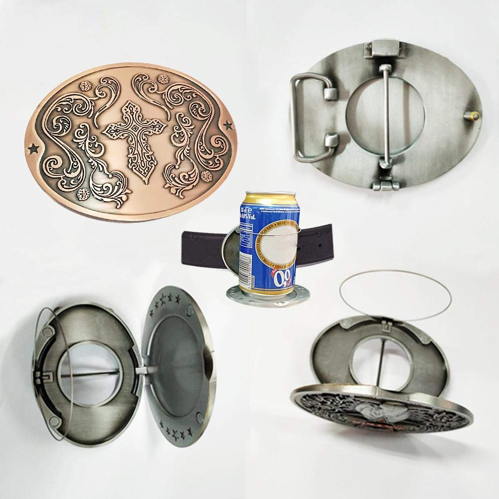 Cross AFfeco Outdoor Metal Beer Head Belt Bottle Buckle for Camping Can Holder
