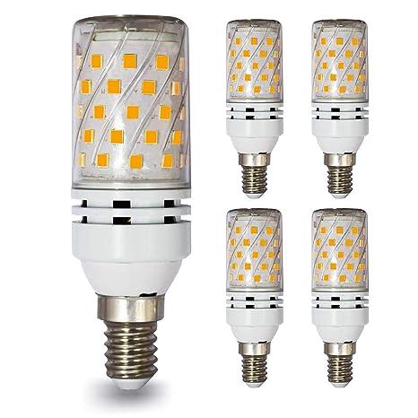 lampaous E14 12 W bombillas de maíz blanco cálido bombilla LED Bombilla 100 W halógena lámpara
