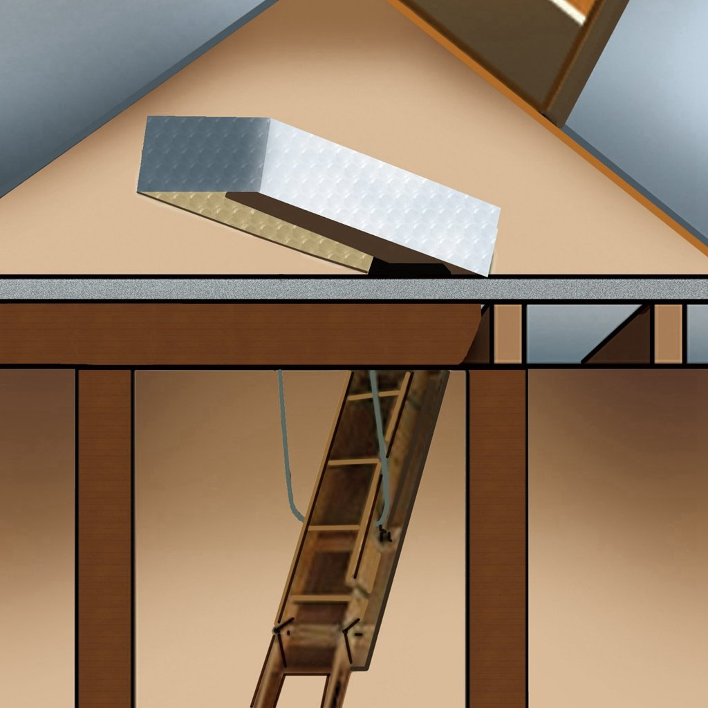 Gurgle Stair Cover Pull Down Attic Ladder Insulation Kit