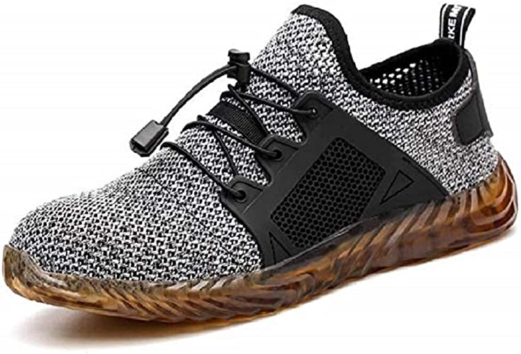 Mens Lightweight Steel Toe Safety Work Shoes Indestructible Sports Run Sneakers