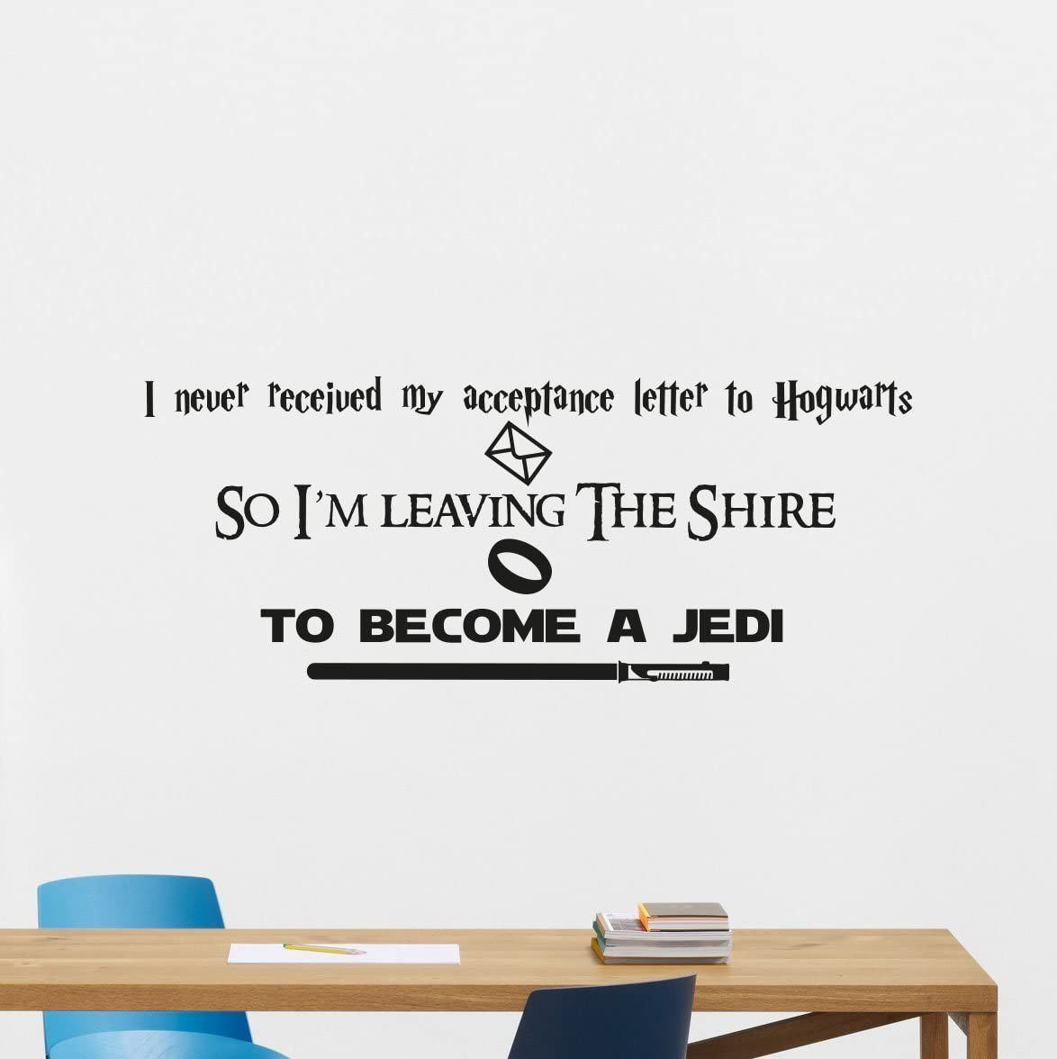 star wars harry potter lord of the rings quotes wall decal i m