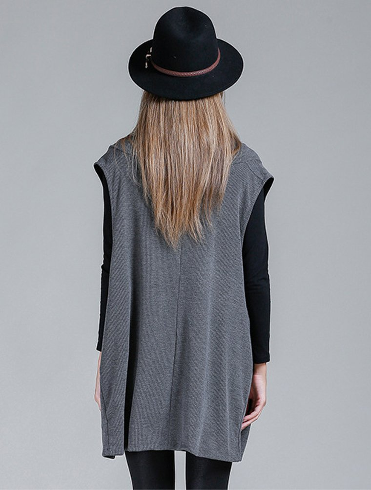 Mordenmiss Women's Oversized Sweater Spring Day Bat Shirt (Style 4 Gray) by Mordenmiss (Image #3)
