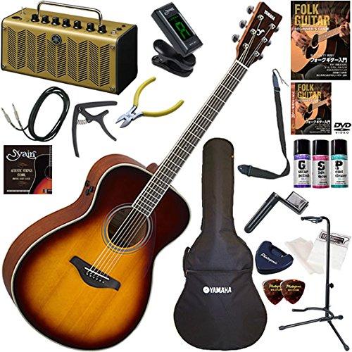 YAMAHA エレアコ 初心者 入門 ギターの生音にリバーブ、コーラスをかけられるトランスアコースティックギター レトロなデザインで多機能高音質のYAMAHA THR5Aが入ってる大人の19点セット FS-TA/BS(ブラウンサンバースト)  BS(ブラウンサンバースト) B0792G9FNL
