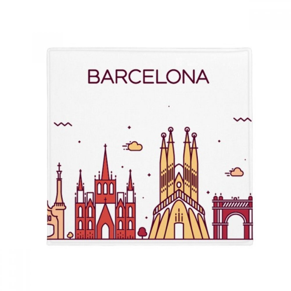 DIYthinker Barcelona Spain Flat Landmark Pattern Anti-Slip Floor Pet Mat Square Home Kitchen Door 80Cm Gift