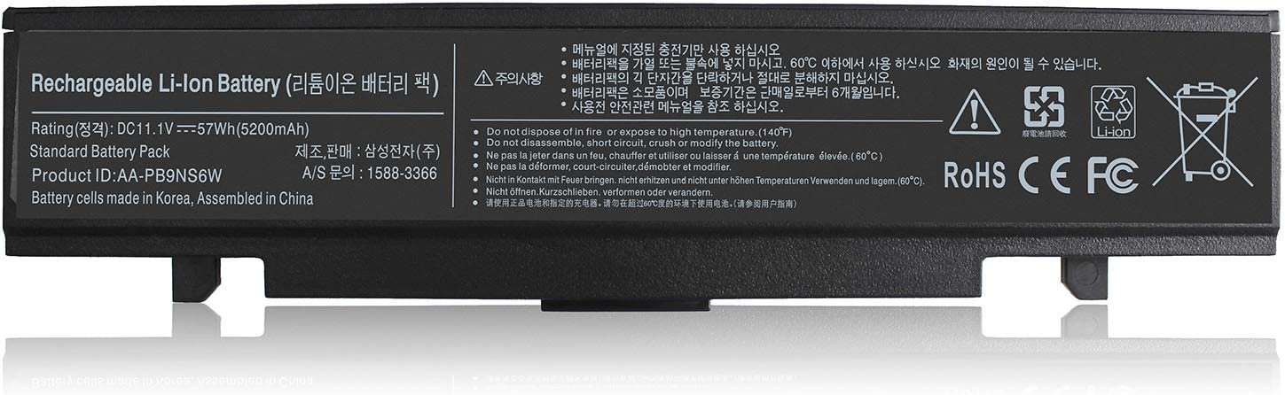 New AA-PB9NC6B AA-PB9NC6W AA-PB9NS6B AA-PB9MC6B Np550P5c Np365e5c Battery Compatible with Samsung R420 R430 R468 R470 R480 RV510 RV511 RC512 R519 R520 R530 R540 R580 R730 Q320 Q430 RV520 AA-PB9NC5B