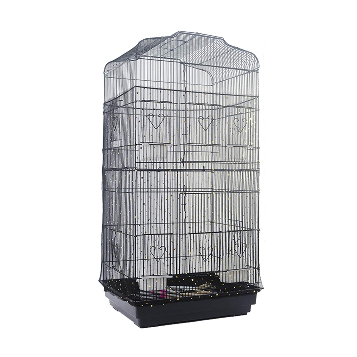 Bonaweite Extra Large Mesh Bird Seed Catcher, Bird Cage Stretchy Guard Cover, Birdcage Nylon Shell Skirt Traps Guards - 29.5'' Height by Bonaweite