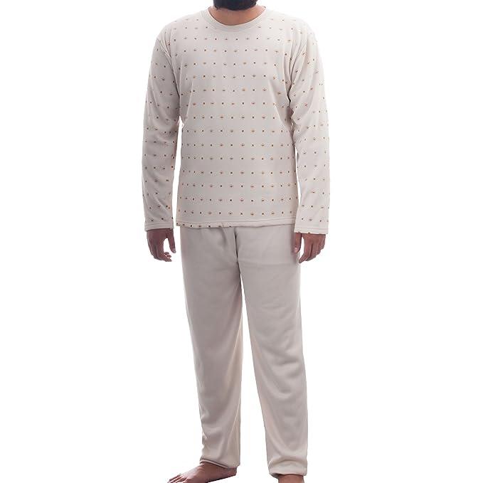 Lucky termomecánica pijama para hombre con diseño de cuello redondo cepillado fotográficos pijamay traje de casa: Amazon.es: Ropa y accesorios