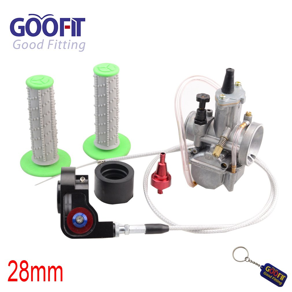 GOOFIT 30mm Visible carburador Twister Cable Grips PWK Tuning Power Jet Caja de bomba de aceleració n 150cc 175cc - 200cc ATV para Red