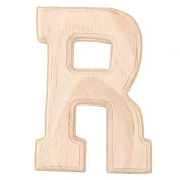 Sourcingmap Haus Schlafzimmer Einrichtung Englisch R Buchstaben Alphabet  Freie Selberbasteln Handwerk Wand Holz Farbe