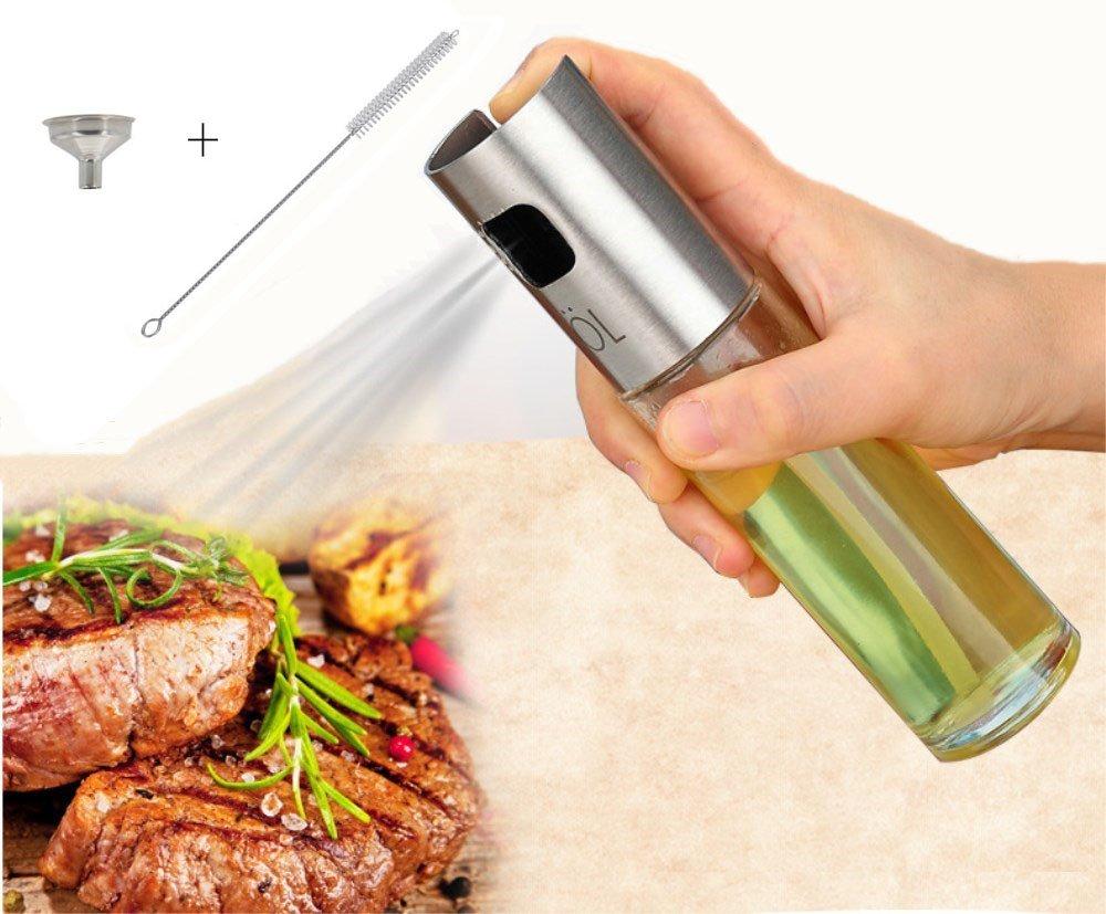 Daimay cucinando Bomboletta spray Cottura all'olio d'oliva Spruzzatore all'aceto balsamico Acciaio inossidabile Bottiglia di olio 100 ml per grigliate insalata Cottura del pane Iniettore per barbecue