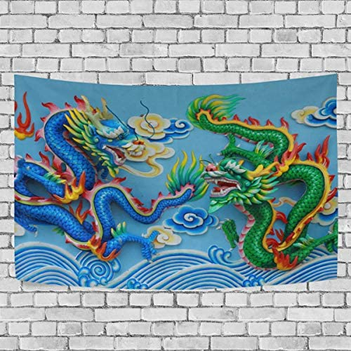 Tapestry Wall Hanging DragonTapestry 60×90 inch Wall Blanket Tapestries for Bedroom Living Room Dorm Handicrafts Curtain Home Decor Tapestries