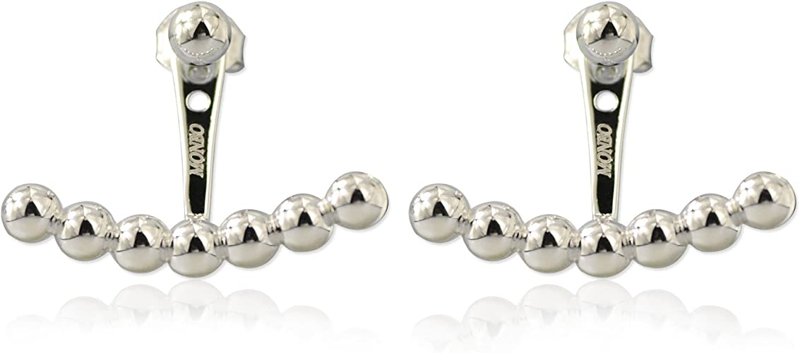 Ball Bead Ear Cuff Sterling Silver 925 Valentines Day Modern Jewelry Gift