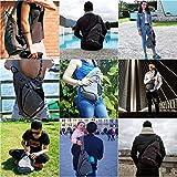 Sling Backpack, WATERFLY Sling Bag Small Crossbody