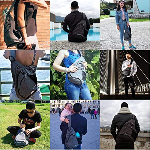 ae0634d06 Waterfly Sling Backpack Sling Bag Small Crossbody Daypack Casual Backpack  Chest Bag Rucksack for Men &