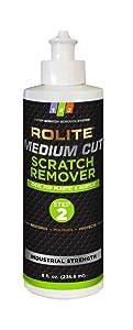 Rolite Medium Cut Scratch Remover (8 fl. oz.) for Plastic & Acrylic Surfaces Including Marine Strataglass & Eisenglass, Headlights, Aquariums
