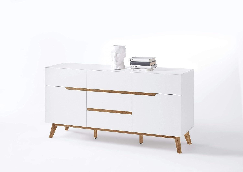 Newfurn Sideboard Kommode Skandinavisch Anrichte Highboard Mehrzweckschrank II 145x76x 40 cm (BxHxT) II [Isaac.Eight] in/Wohnzimmer Schlafzimmer Esszimmer