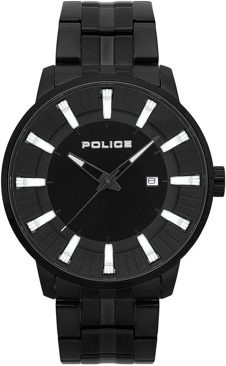 Police Reloj Cronógrafo para Hombre de Cuarzo con Correa en Acero Inoxidable PL.15391JSB/02M