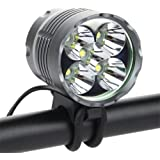 JAROWN 8000 Lumens LED Bike Light Cycling Headlight Lamp Bicycle Front Light with 8800mAh Rechargeable Li-ion Batteries for Camping,Hiking,Fishing