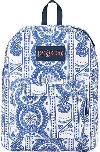 JanSport SuperBreak Backpack (White Swedish Lace)