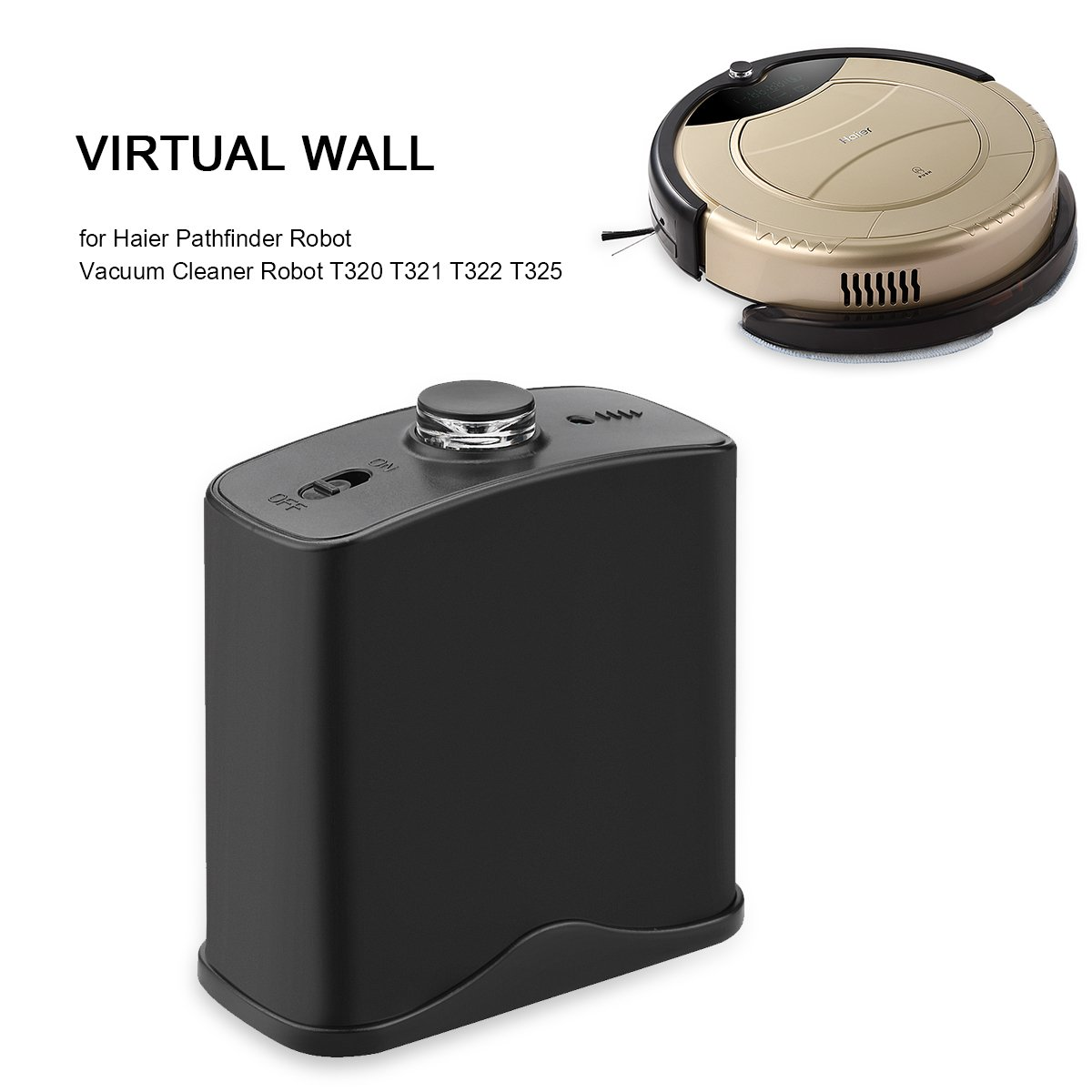 Pared virtual original para robot aspirador para Haier T320 T321 T322 T325, negro: Amazon.es: Hogar