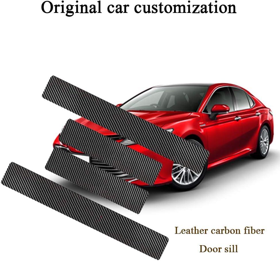 For Toyota Carmy Corolla Rav4 Highlander Vinyl Door Sill Protector Red 4pcs