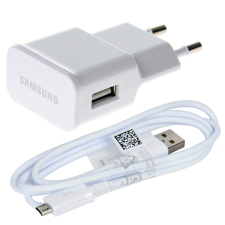Cargador Compatible + Cable Cargador de Pared Compatible Samsung EP-TA20EWE para Viajes en Paquete a Granel, Blanco, 1.2 MT. con Cable de Carga rápida ...