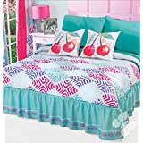 NEW CHERRY COLLECTION GIRLS BEDSPREAD SET 2 PCS TWIN SIZE