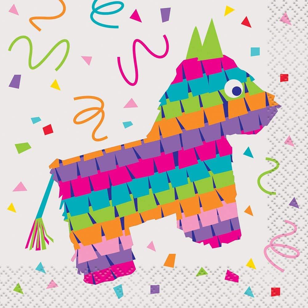 Servilletas de c/óctel para Fiesta mexicana Unique Party 58681 16 unidades