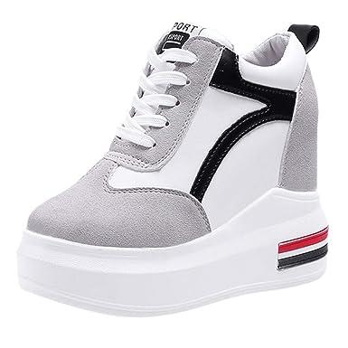 sconto fino al 60% promozione speciale ampia scelta di colori Dragon868 Sneakers Donna Zeppa Sneakers in Velluto Zeppa Interna Sneakers  Donna Alte 11cm Strisce Sportive Ginnastica Primaverili