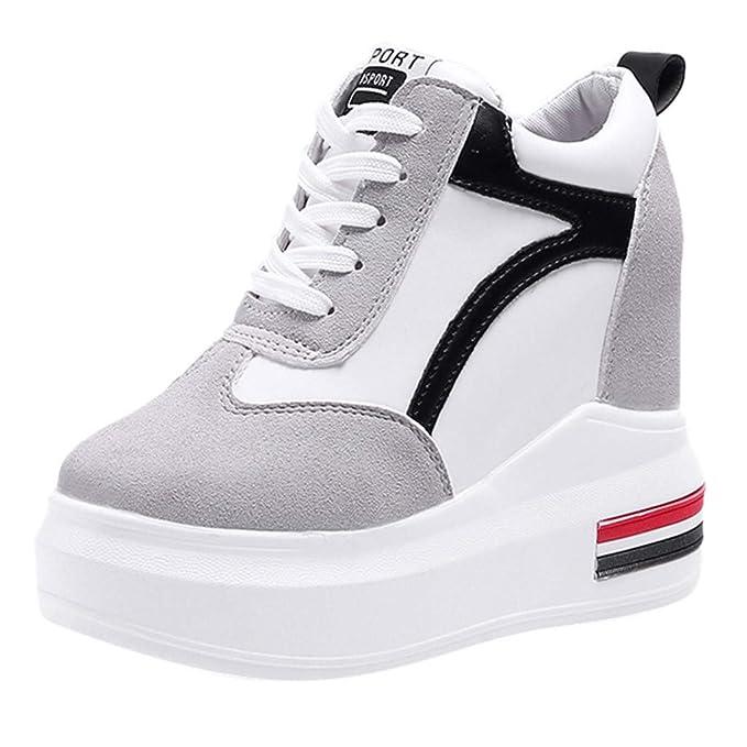 Dragon868 Sneakers Donna Zeppa Sneakers in Velluto Zeppa Interna Sneakers  Donna Alte 11cm Strisce Sportive Ginnastica Primaverili  Amazon.it   Abbigliamento 4083c690e68