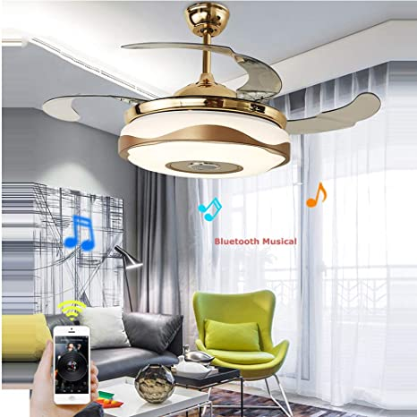 LED Modern Acryl Bluetooth Musical Ceiling Fan.LED Lamp.LED Light.Ceiling Lights.LED Ceiling Light.For Foyer Bedroom - - Amazon.com