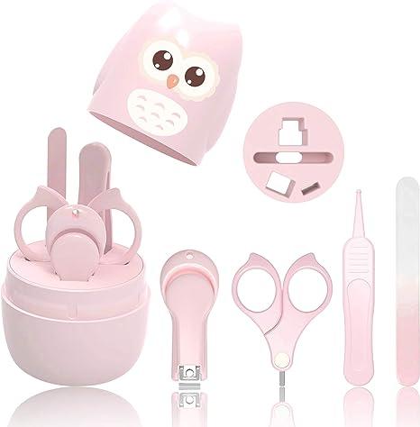 HyAdierTech Juego de cortaúñas para bebé - Juego de pedicura para bebé - Kit de aseo para bebé -