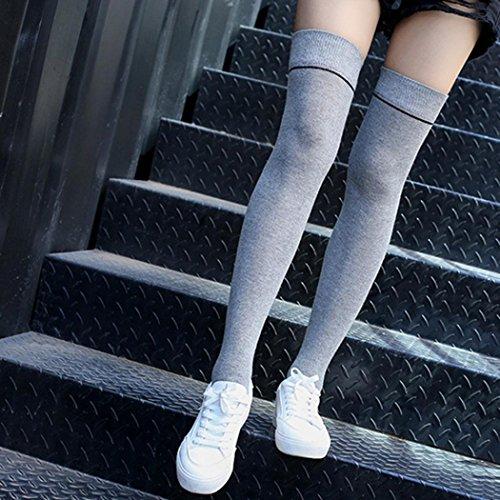 MML Women Winter Knitted Over knee Long Boot Thigh-High Warm Non-slip Socks Leggings Gary euKLs