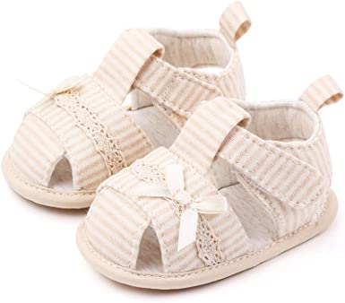 Children BabyGirls Summer Soft Sole Open Toe Bowknot Sandals Shoes With Light