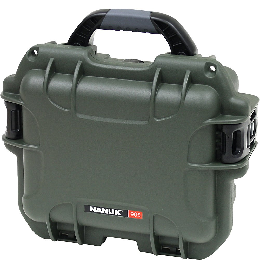 Nanuk 905 Waterproof Hard Case with Padded Dividers - Olive