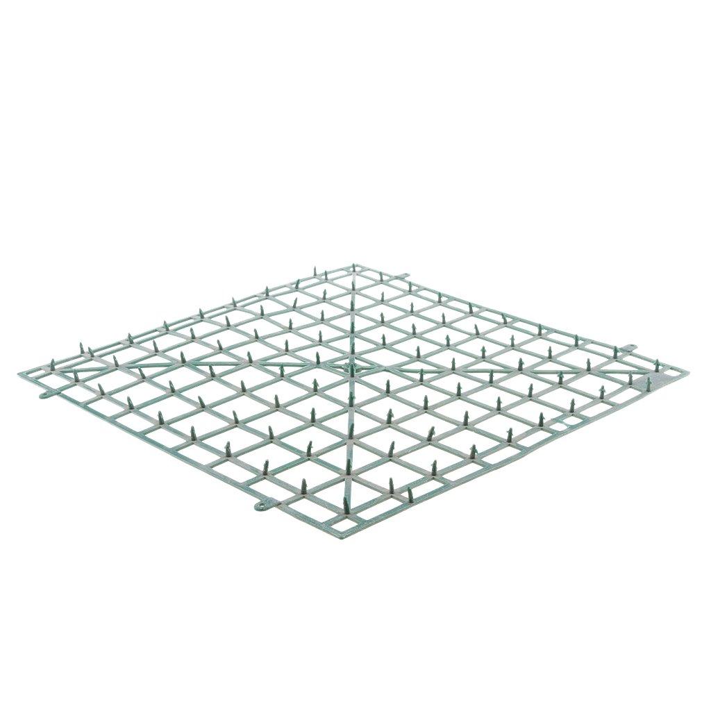 PETSOLA 12x Paneles De Pl/ástico De Pared De Flores Artificiales para Fondo De Boda DIY 24x24cm