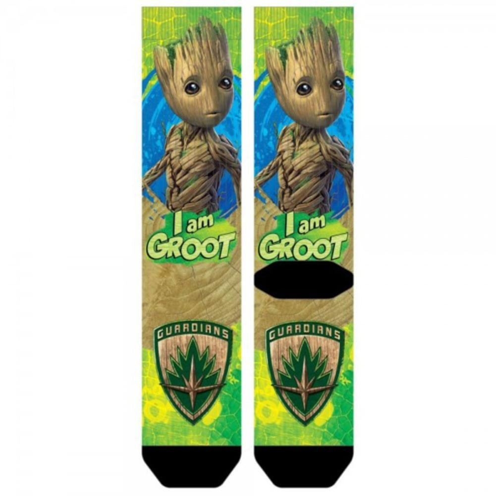 Marvel Guardians of the Galaxy 2 I Am Groot Sublimated Crew Calcetines Bioworld
