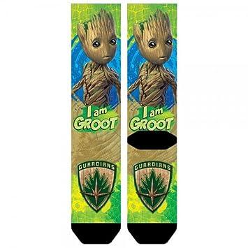 Marvel Guardians of the Galaxy 2 I Am Groot Sublimated Crew Calcetines: Amazon.es: Juguetes y juegos
