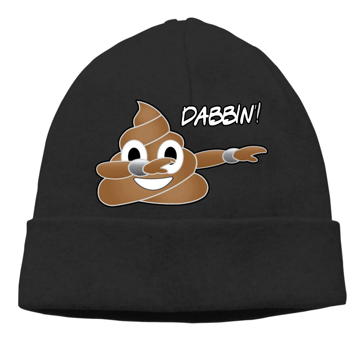 0d95bdfbb4594 Funny Dabbing Poop Emoji Beanie Hat Hipster Toboggan Hat Winter Hats Warm  Hat Beanies for Men and Women at Amazon Men s Clothing store