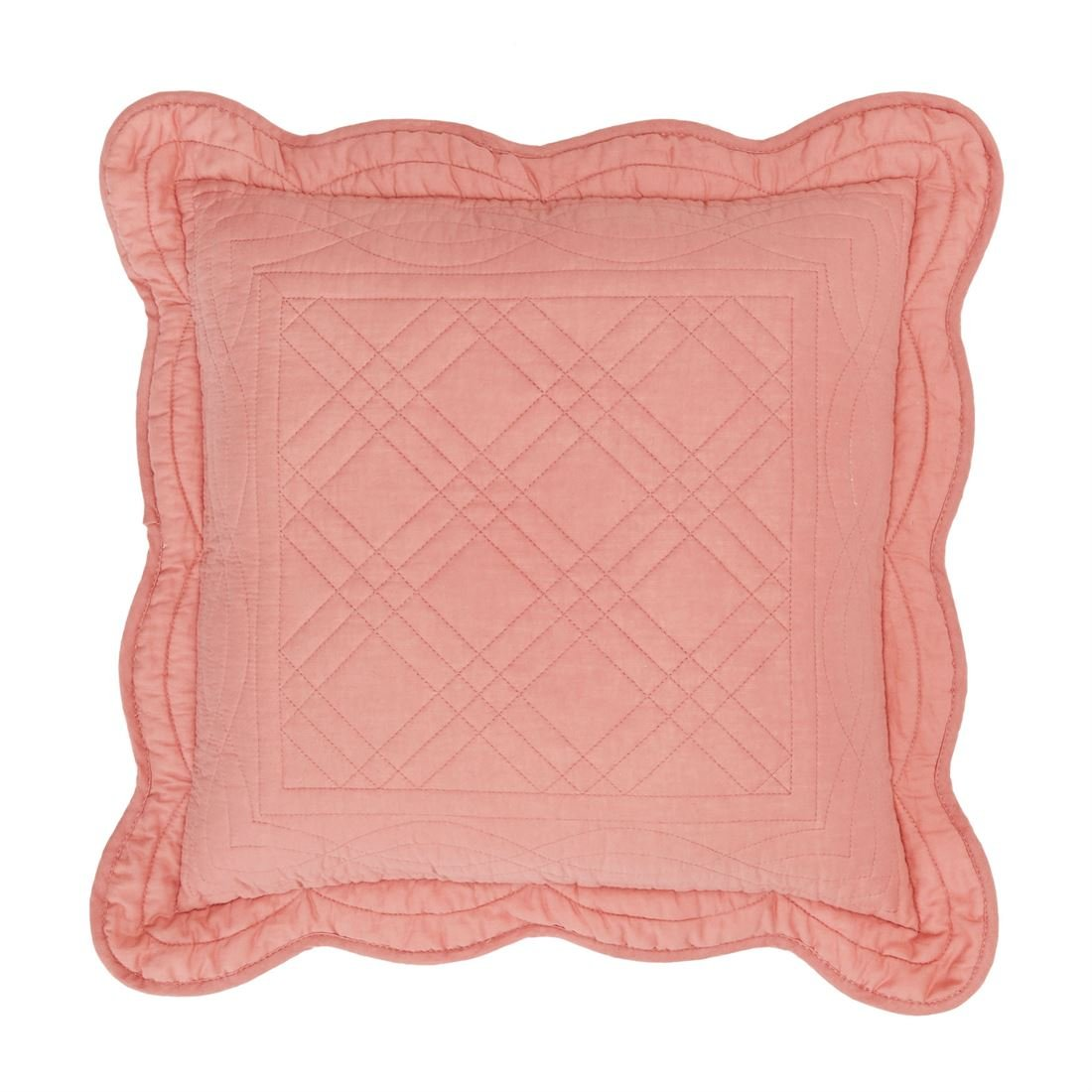 BrylaneHome Florence 16'' Square Pillow (Coral,0)