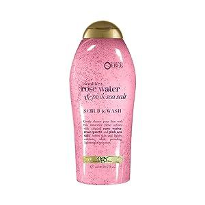 OGX Pink sea salt & rosewater gentle soothing body scrub, 19.5 Ounce