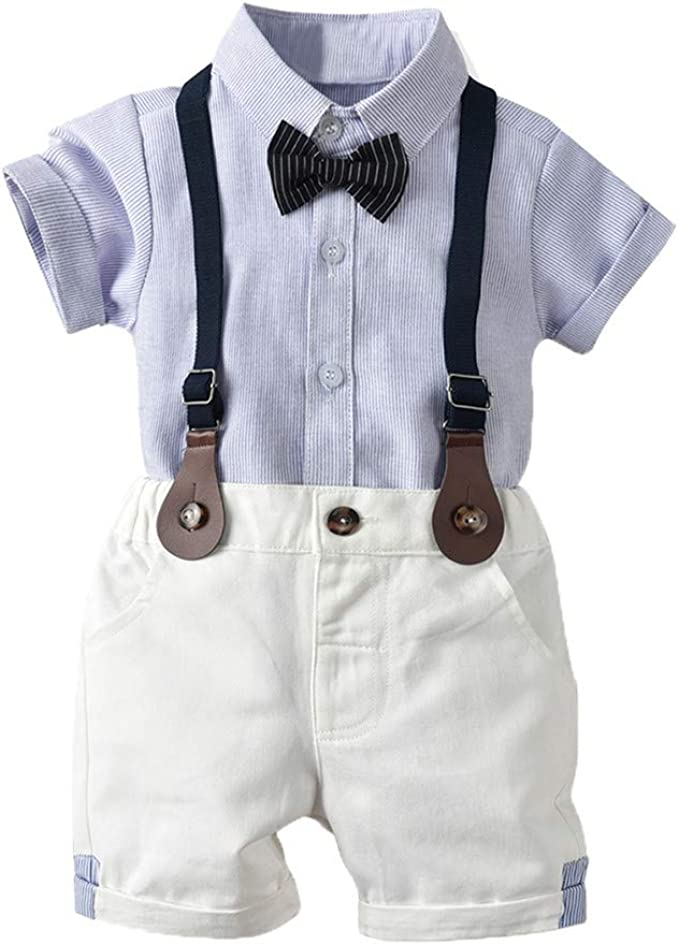 Sanaghy Baby Jungen 2 Stücke Taufe Anzüge Bowtie Shirt Top