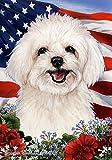 Maltipoo – Best of Breed Patriotic I House Flag